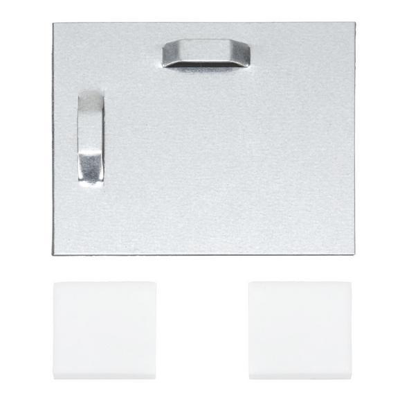 Befestigungsset Wandblech Grau - (8/8cm) - Mömax modern living