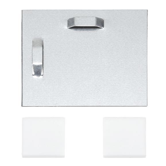 Befestigungsset Wandblech in Grau, 3-teilig - (8/8cm) - Mömax modern living