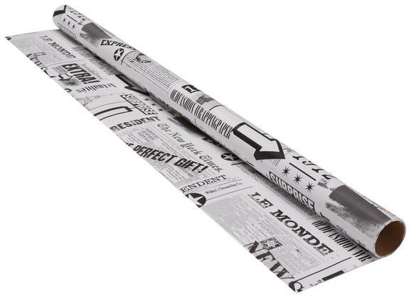 Geschenkpapier Marie Schwarz/Weiß/Grau - Schwarz/Weiß, Papier (70/200cm)