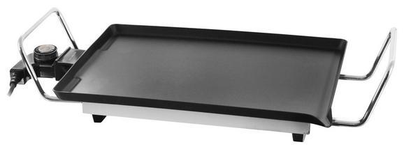 Teppanyaki-grill Simon, Max. 1350 Watt - Schwarz, Metall (52,6/25,4/11,5cm)