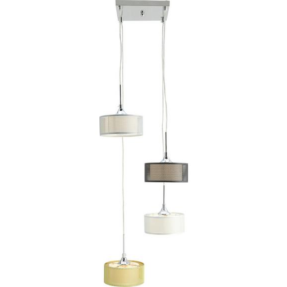 Pendelleuchte Cassandra 4-flammig - Silberfarben/Goldfarben, Glas/Metall (32/100cm) - Bessagi Home