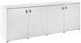 Sideboard Mick - Weiß, MODERN, Leder/Holz (180/69,5/40cm) - Modern Living