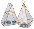 Dekobox Adriana Gold - Klar/Goldfarben, Glas/Metall (15/10/20cm) - Modern Living