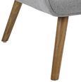 Wohnsessel Sira - Hellgrau, MODERN, Holz/Textil (73/91/85cm) - Mömax modern living