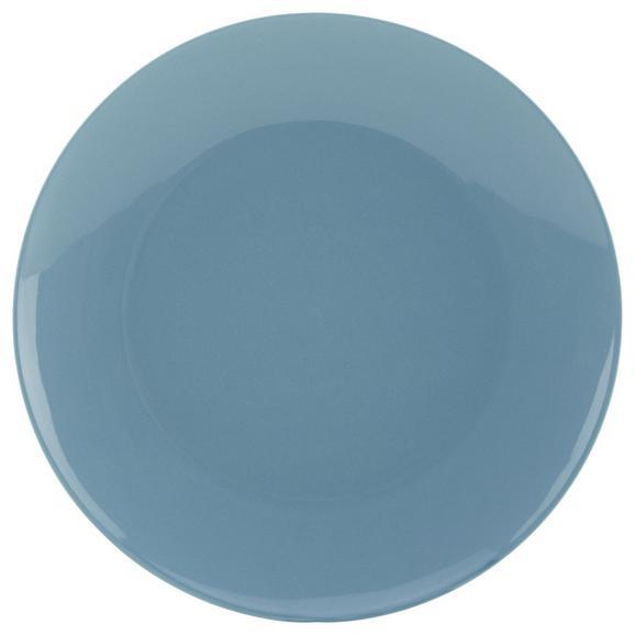 Farfurie Întinsă Sandy - albastru, Konventionell, ceramică (26,8/2,42cm) - Modern Living