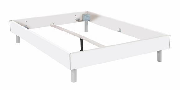 Futonska Postelja Belia - aluminij/bela, kovina/leseni material (180/200cm) - Mömax modern living