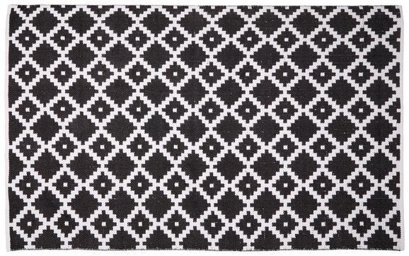 Teppich Parma Schwarz/Weiß 160x230cm - Schwarz/Weiß, Textil (160/230cm) - Mömax modern living