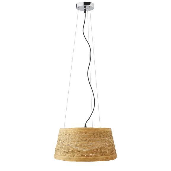 Pendelleuchte Rope - Naturfarben, MODERN, Kunststoff/Metall (40/22cm) - Bessagi Home