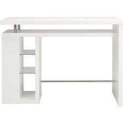 Bartisch in Weiß Hochglanz - Weiß, MODERN, Holzwerkstoff (157/110/55cm) - Mömax modern living