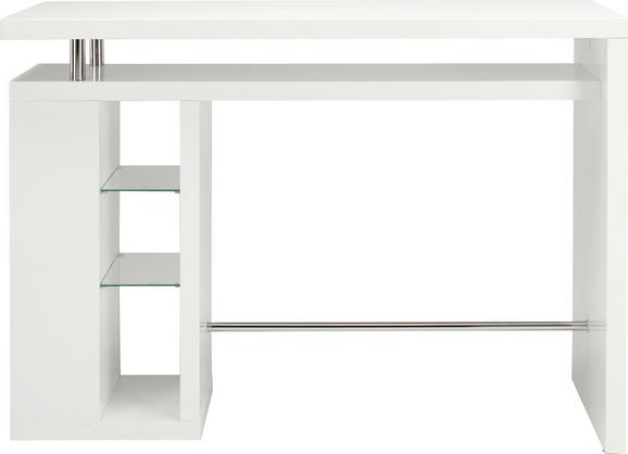 Bartisch Weiß - Weiß, MODERN, Holzwerkstoff (157/110/55cm) - Mömax modern living