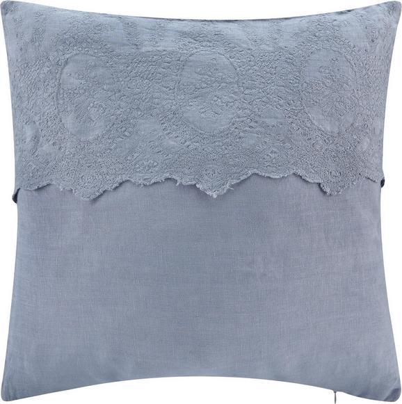 Kissen Pia 50x50cm - Blau/Grau, ROMANTIK / LANDHAUS, Textil (50/50cm) - Mömax modern living