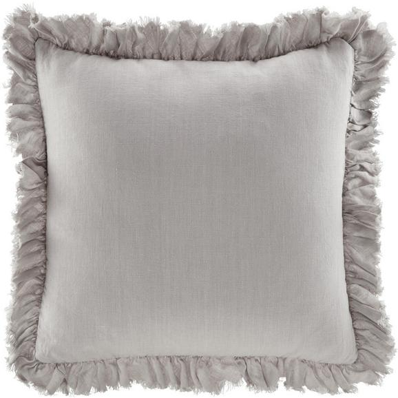 Kissen Pascaline ca.45x45cm in Taupe - Taupe, MODERN, Textil (45/45cm) - Bessagi Home