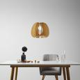 Pendelleuchte Simona - Beige/Naturfarben, MODERN, Holz (37/140cm) - Modern Living