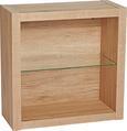 Stenski Regal Match San Remo - hrast, Moderno, steklo/leseni material (60/60/26cm) - Mömax modern living