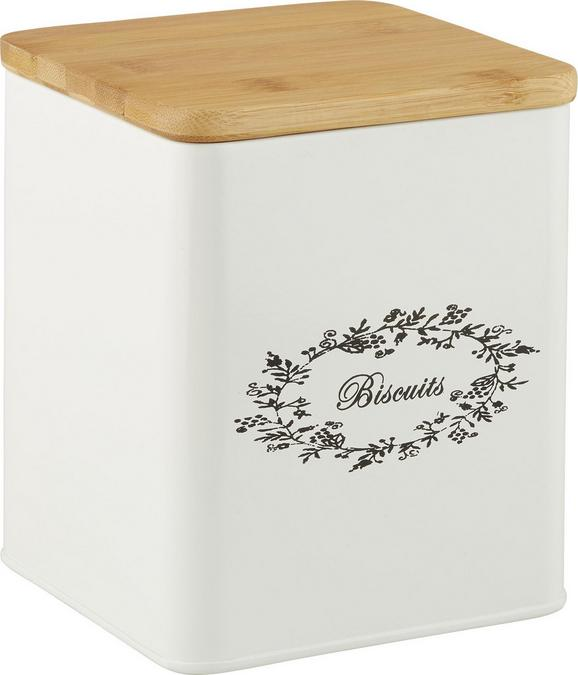 BOX MIT DECKEL LORE in Weiß aus Echtholz - Weiß, ROMANTIK / LANDHAUS, Holz/Metall (14/14/16cm) - Zandiara