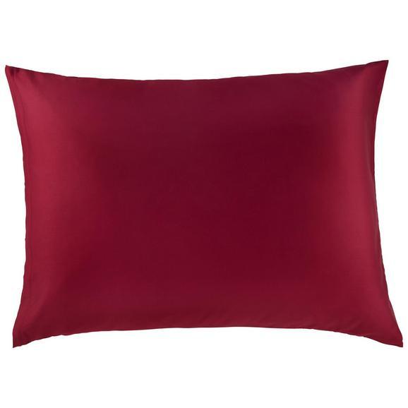 Kissenhülle Belinda ca. 70x90cm - Bordeaux/Silberfarben, Textil (70/90cm) - Premium Living