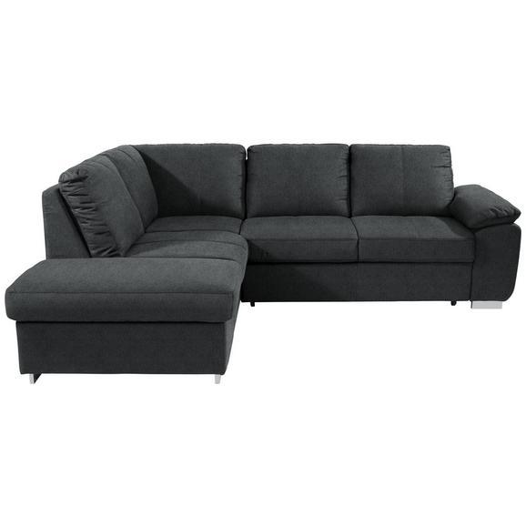 Sjedeća Garnitura Cara - siva/boje kroma, Romantik / Landhaus, tekstil/metal (213/250cm) - Modern Living