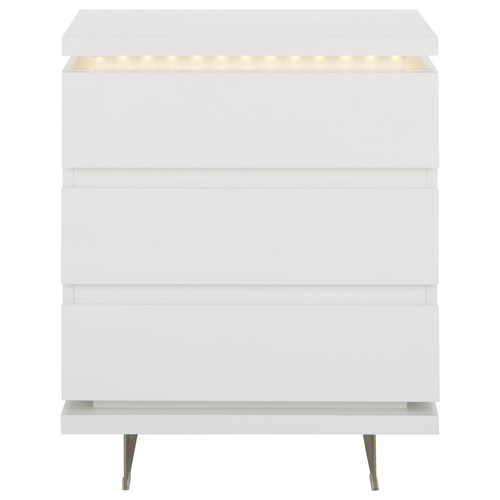 Nachtkästchen in Weiß Inkl Led-beleuchtung