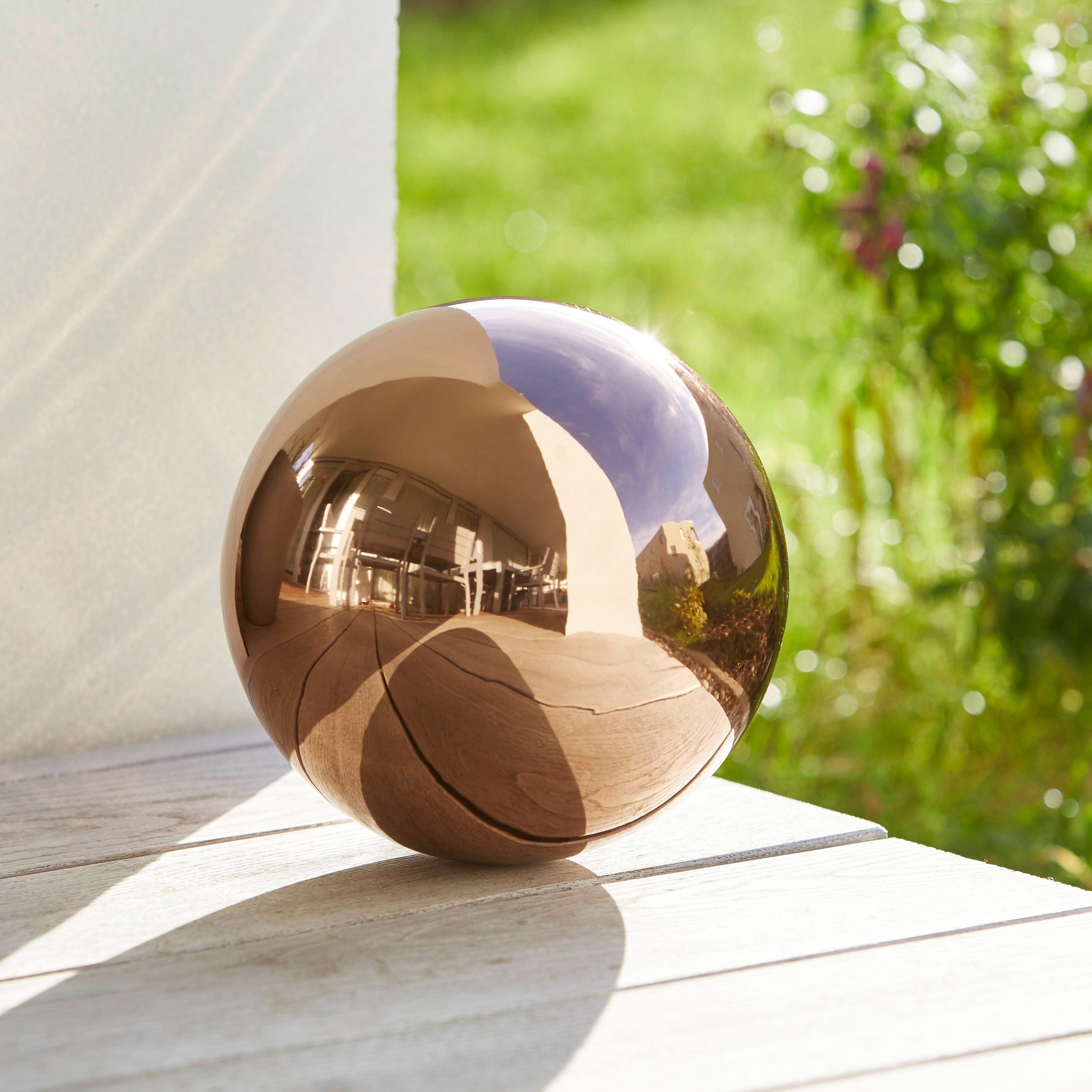 Dekokugel 20 cm Mia - Kupferfarben, Metall (20cm) - MÖMAX modern living