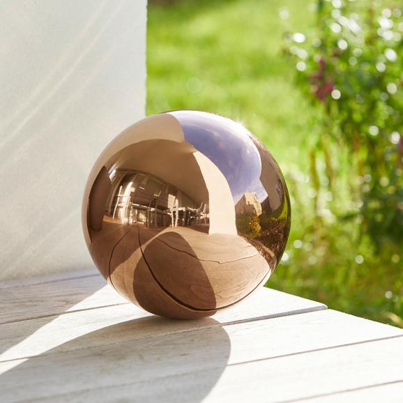 Dekokugel Mia Øca.20cm - Kupferfarben, Metall (20cm) - Mömax modern living
