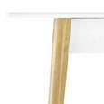 Tisch Mary Ausziehbar ca. 200x90 cm - Weiß/Kieferfarben, MODERN, Holz (160-200/90/75cm) - Modern Living