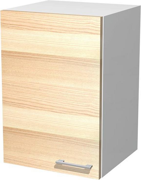 Kuhinjska Zgornja Omarica Venezia Akazia - bela/akacija, Moderno, leseni material (40/54/32cm)