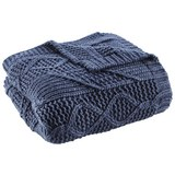 Decke in Blau ca. 130x180 cm 'Saskia' - Blau, Textil (130/180cm) - Bessagi Home