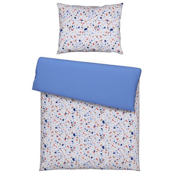Bettwäsche Terrazzo in Blau ca. 140x200cm - Blau, MODERN, Textil (140/200cm) - Mömax modern living