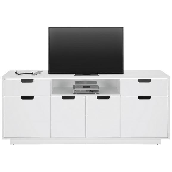 TV-Element in Weiß inkl. Beleuchtung - Weiß, MODERN, Holzwerkstoff (198/83/40cm)