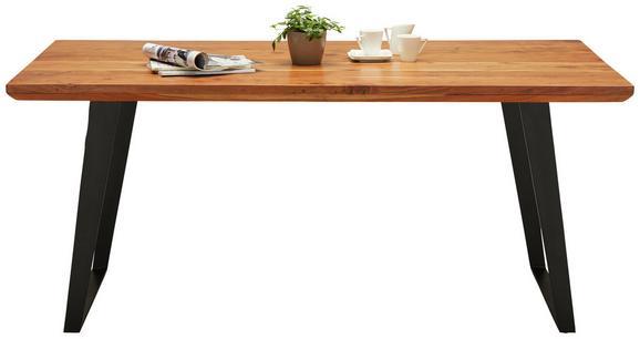 Jedilna Miza Herkules - črna/akacija, Trendi, kovina/les (175/76/90cm) - Modern Living