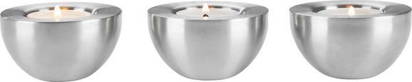 Teelichthalter Vera in Edelstahlfarben - Edelstahlfarben, Metall (7/4cm) - Mömax modern living