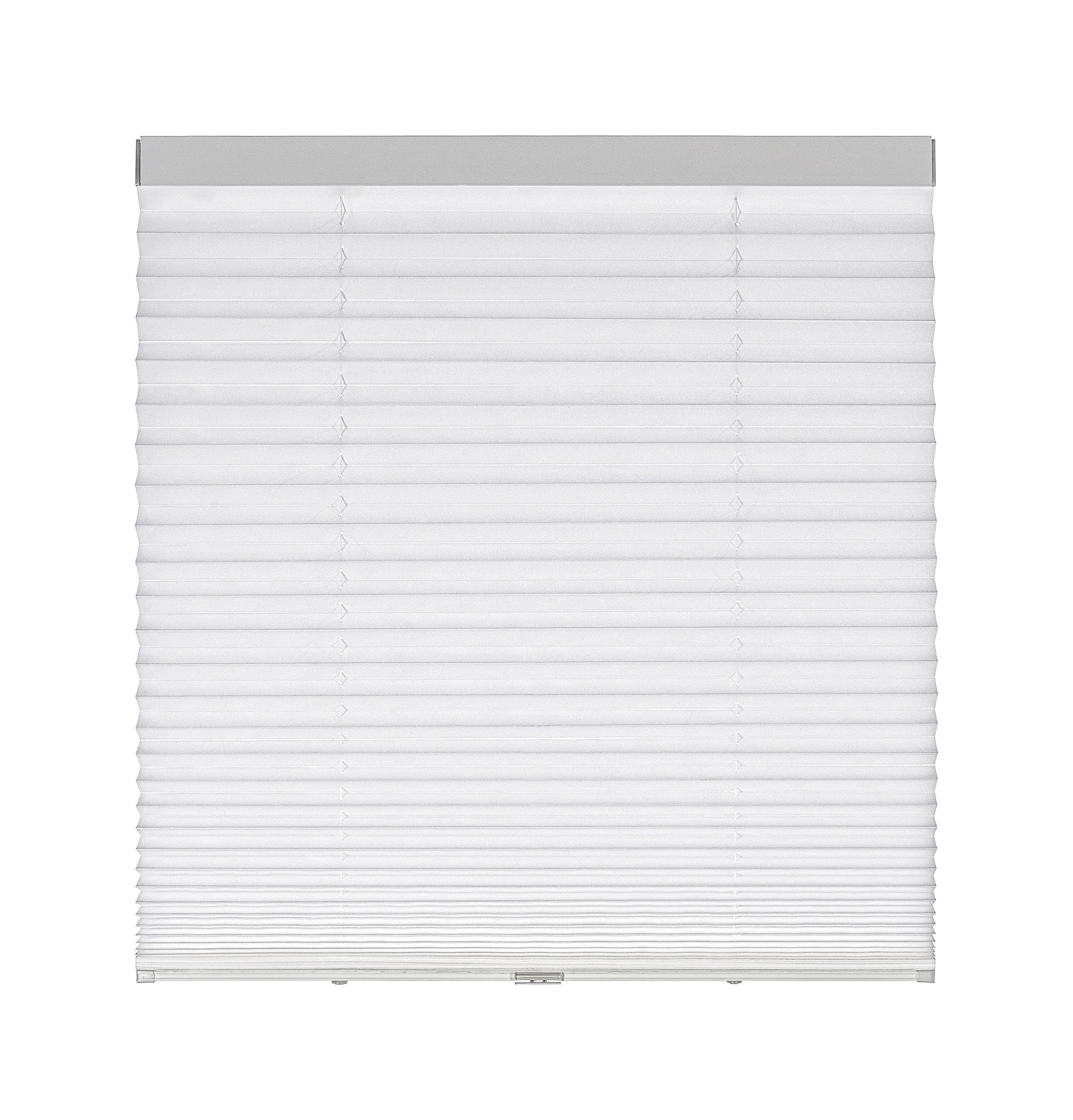 Plissee Joe in Weiß, ca. 100x150cm - Weiß, KONVENTIONELL, Textil (100/150cm) - MÖMAX modern living