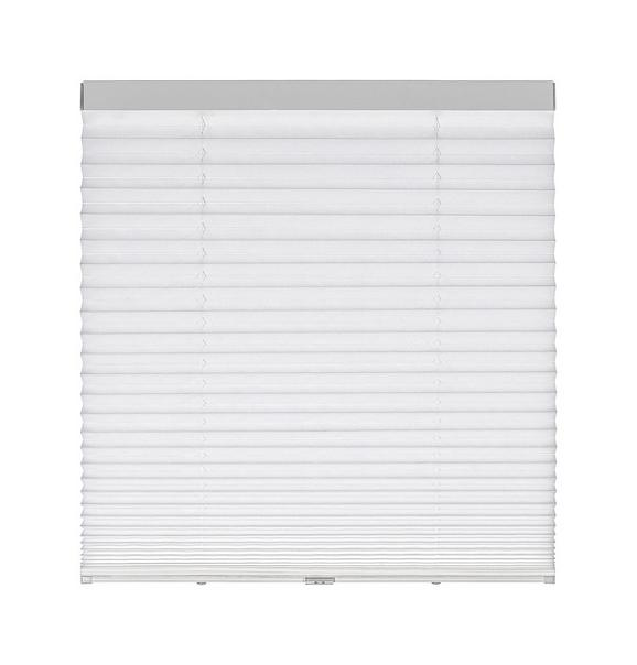 Plissee Joe in Weiß, ca. 120x150cm - Weiß, KONVENTIONELL, Textil (120/150cm) - Mömax modern living