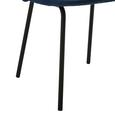 STUHL in Blau 'Selina' - Blau/Schwarz, MODERN, Textil/Metall (48,5/78/54cm) - Bessagi Home