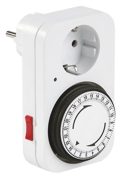 Zeitschaltuhr Tick in Weiß - Weiß, Kunststoff/Metall (11,9/7,3cm)