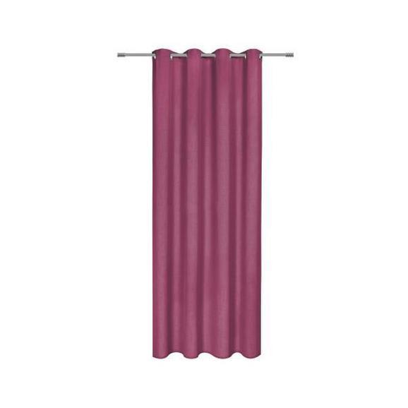 Perdea Cu Inele Tip Capsă Ulli - mov, textil (140/245cm) - Modern Living