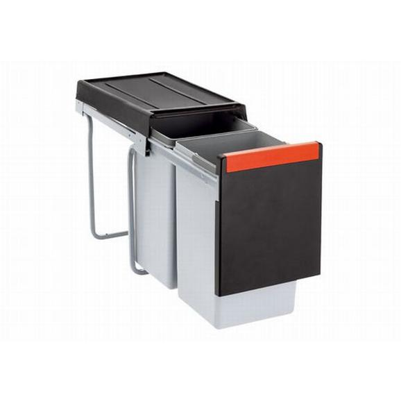 Einbauabfallsammler Cube 30 2 x 15 Liter - Grau, Kunststoff (25,3/43,3/46,7cm) - Franke