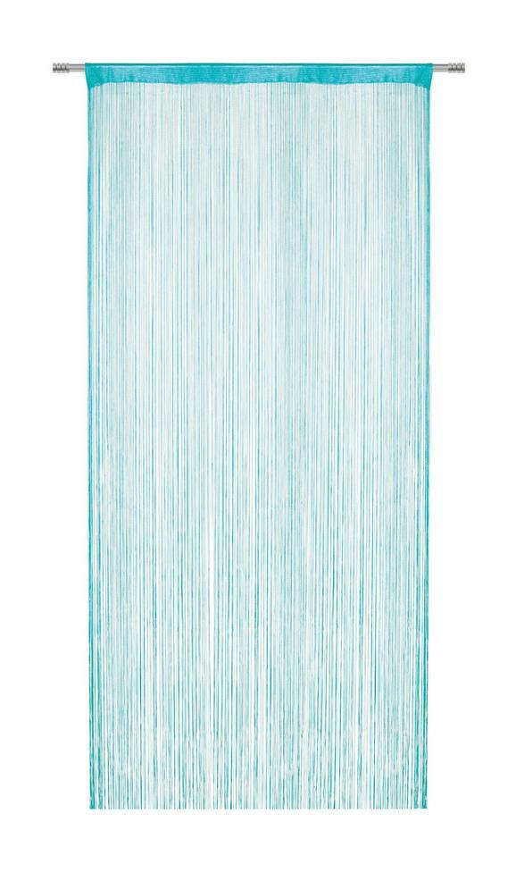 Zsinórfüggöny Franz - Olajkék, Textil (90/245cm) - MÖMAX modern living