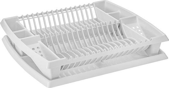 Geschirrabtropfkorb in Weiß - Weiß, Kunststoff (44,2/8,5/38,3cm) - MÖMAX modern living