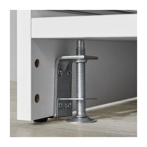 Fuß Unit aus Metall, 2er Set - Alufarben, MODERN, Metall (4/6/3cm) - Based
