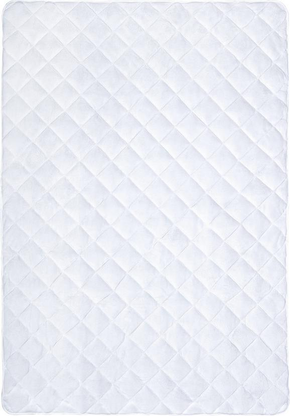 Posteljni Nadvložek Ella -ext- - bela, tekstil (140/200cm) - Premium Living