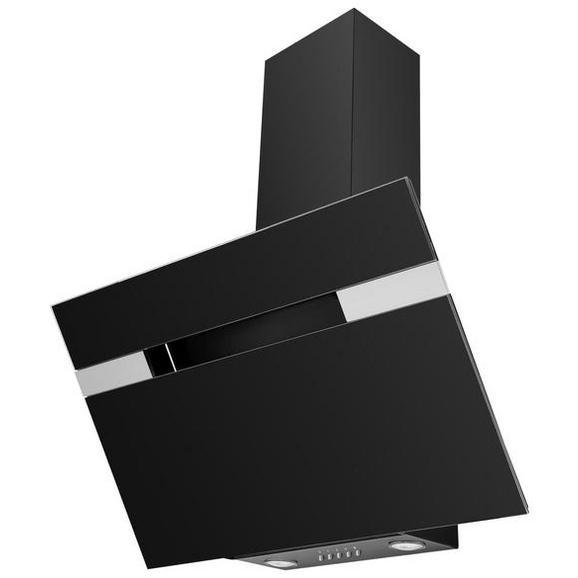 Dunstabzugshaube 60230, Glasschirm Schwarz - Schwarz, LIFESTYLE (90/94,5-113,5/37,5cm) - Mican