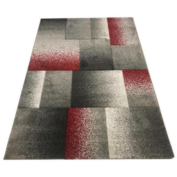 Webteppich Palermo ca. 80x150cm - Rot/Grau, MODERN, Textil (80/150cm)