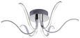LED-Deckenleuchte Valerie max. 4,5 Watt - Silberfarben, Kunststoff/Metall (65/65/19cm)