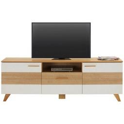 TV-Element in Weiß/Eichefarben - Eichefarben/Weiß, LIFESTYLE, Holz/Holzwerkstoff (180/61/44cm) - Mömax modern living