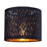Deckenleuchte Samti max. 60 Watt - Goldfarben/Schwarz, LIFESTYLE, Textil/Metall (20/17cm) - Modern Living