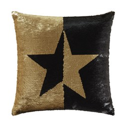 Okrasna Blazina Pailette Star - črna/zlata, Trend, tekstil (40/40cm) - Premium Living