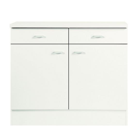 Corp Inferior De Bucătărie Speed  Us 100-50 W - alb, Konventionell, compozit lemnos (100/85/47cm)