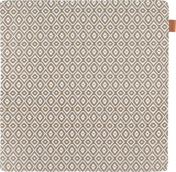 Kissenhülle Jenni ca. 40x40cm - Taupe, MODERN, Textil (40/40cm)