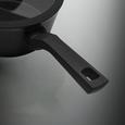 Kochtopfset Blake aus Aluminium, 5-teilig - Klar/Schwarz, MODERN, Glas/Metall - Premium Living